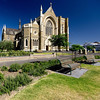 St Mary's West Melbourne : St Mary's Star of the Sea in West Melbourne is the largest parish church, or non-cathedral church, in Australia. It is also one of the most beautifull. The foundation stone was laid in 1882, and the church was completed in 1900. In 2002 a renovation program was commenced, costing $10 million; it was recently completed and the gardens redesigned. Inside, there is seating for 1200 people. The Roman Catholic Parish of West Melbourne dates back to 1873, when Melbourne was still experiencing a population explosion which began with the gold rush in the 1850s. The exterior of the church is New Zealand limestone, the roof is slate.